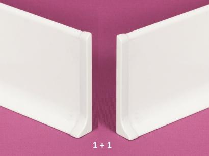Ukončení hliník 90/6MP Profilpas Bílé lesklé pár