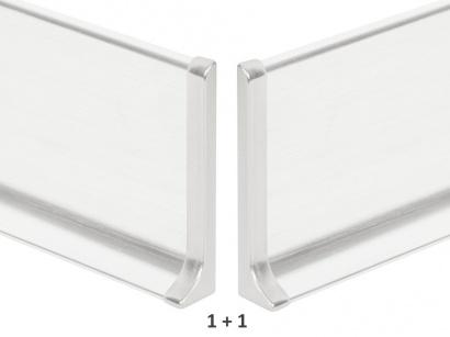 Ukončení hliník 90/5MP Profilpas Stříbrné broušené pár