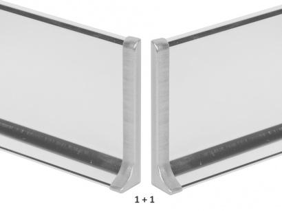 Ukončení hliník 790/4MP Profilpas Nerez leštěná pár