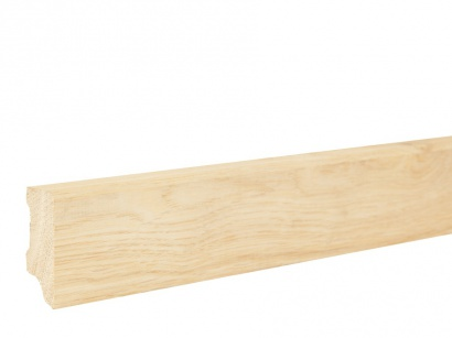 Masivní soklová lišta Dub Rustik 20 x 45 surová model 2
