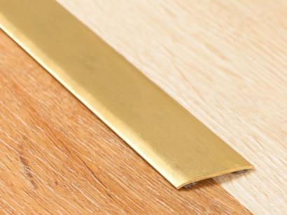 Přechodová lišta samolepící plochá Proclassic F Mosaz leštěná
