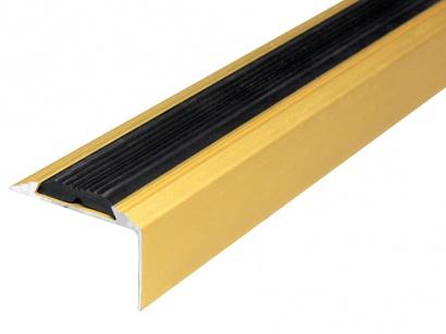 Schodová hrana protiskluzná Zlatá E00 30 x 46