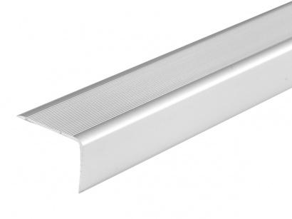 Schodová lišta samolepící Stříbrná E01