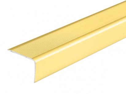 Schodová lišta samolepící Zlatá E00