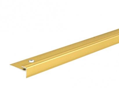 Schodový ukončovací profil pro vinyl, pvc Zlatá E00