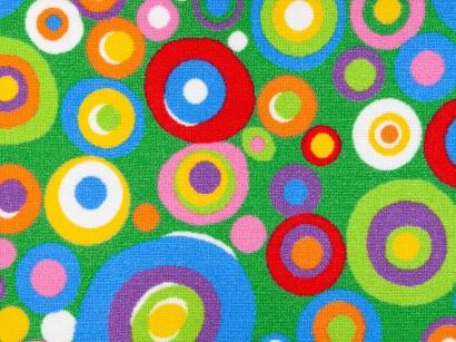 Dětský koberec Flora 935 zelený šíře 4m