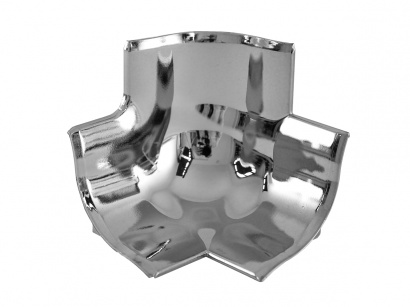 Rohové spojení 3 rohů GBL/40/T polypropylen Stříbrné