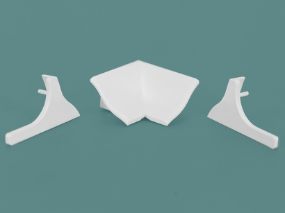 Komponenty pro vanovou lištu Sanibord BPT/25