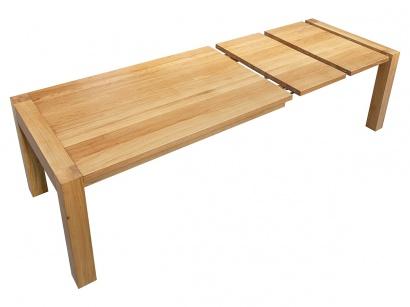 Masivní rozkládací stůl Elegance Naturel Superb A 100x170