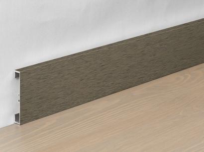 Hliníková podlahová lišta 89/6 I Design Hnědá tmavá 60 mm