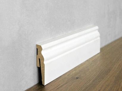Podlahová soklová lišta Bílá Paint it Viktoriánská 15 x 60 MP0601