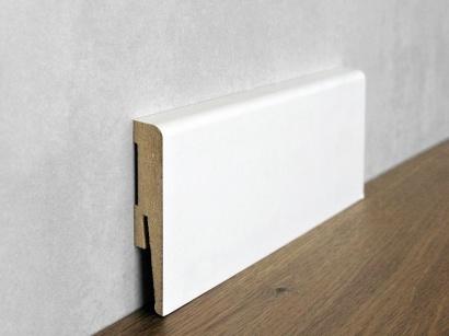 Podlahová soklová lišta Bílá Paint it Bullnose 15 x 80 MP0801