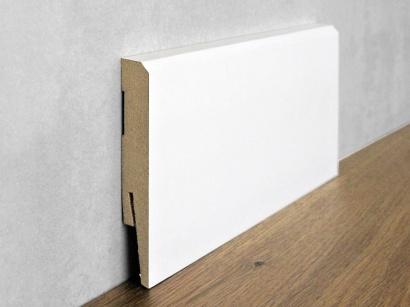 Podlahová soklová lišta Bílá Paint it Bevelled 15 x 100 MP1001