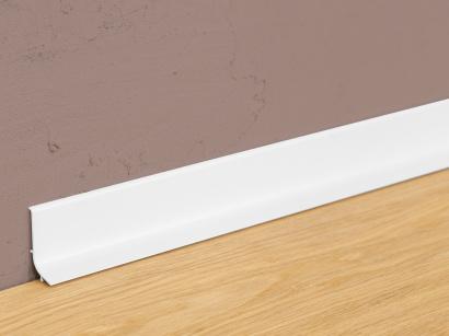Hliníková podlahová lišta samolepící Q63 Bílá RAL 9016
