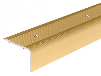 Schodová lišta šroubovací Arbiton 40 x 25 x 1800 Zlatá PS4