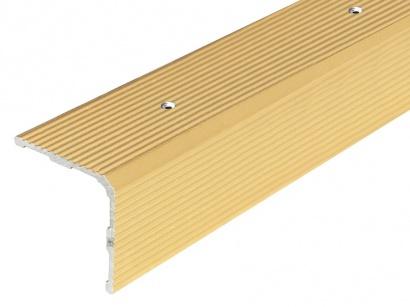 Schodová lišta šroubovací Arbiton 30 x 30 Zlatá PS3