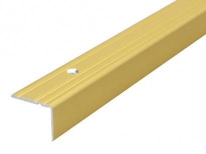 Schodová lišta šroubovací Arbiton 25 x 20 x 1800 Zlatá PS2