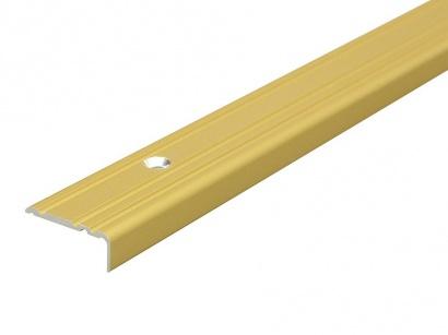 Schodová lišta šroubovací Arbiton 25 x 10 Zlatá PS1