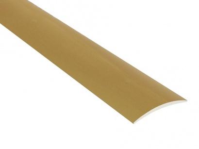 Přechodová lišta nevrtaná oblá Zlatá C3