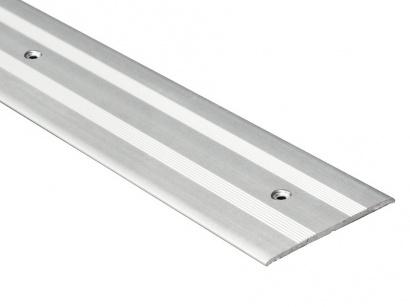 Přechodová lišta šroubovací plochá Stříbrná E01