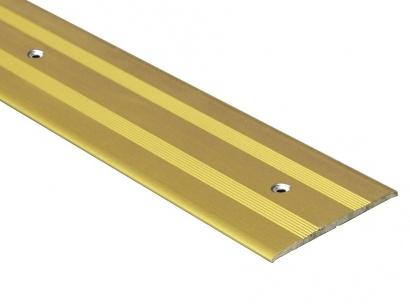 Přechodová lišta šroubovací plochá Zlatá E00
