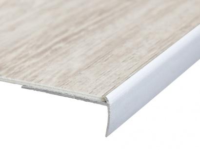 Schodová lišta pro vinyl pvc a koberce Stříbrná E01