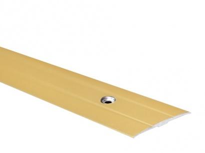 Přechodová lišta šroubovací plochá PR6 Zlatá