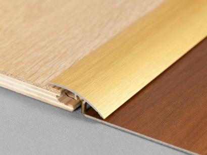 Přechodová lišta narážecí Arbiton SM2 Zlatá kartáčovaná