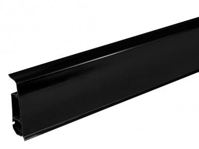 AKCE podlahová lišta pro vedení kabelů LM70 Arbiton INDO 18 Černá lesklá