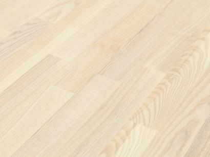 Dřevěná podlaha Jasan classic bílý parketa